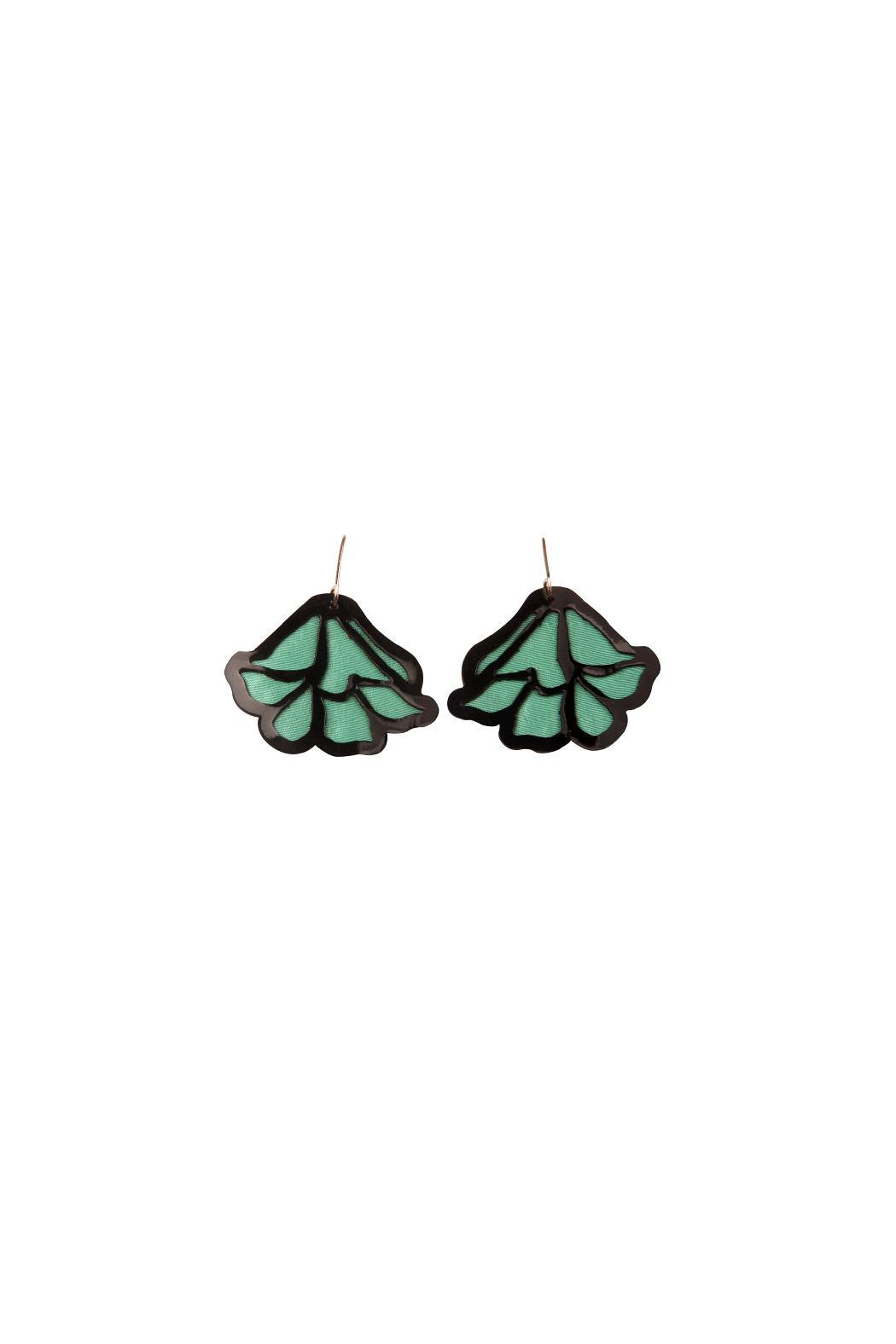 Jungle CHICk Puy Puy Earrings - Front Full Image