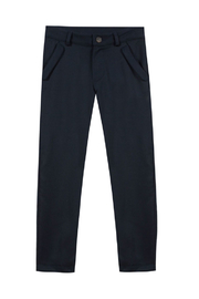 Tartine et Chocolat Junior Navy Flannel Trousers - Front cropped