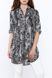 Juniper Ln Snake Print Top - Product Mini Image