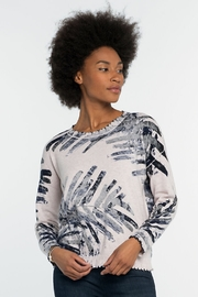 Nic + Zoe Juniper Sweater, Indigo Mix - Front cropped