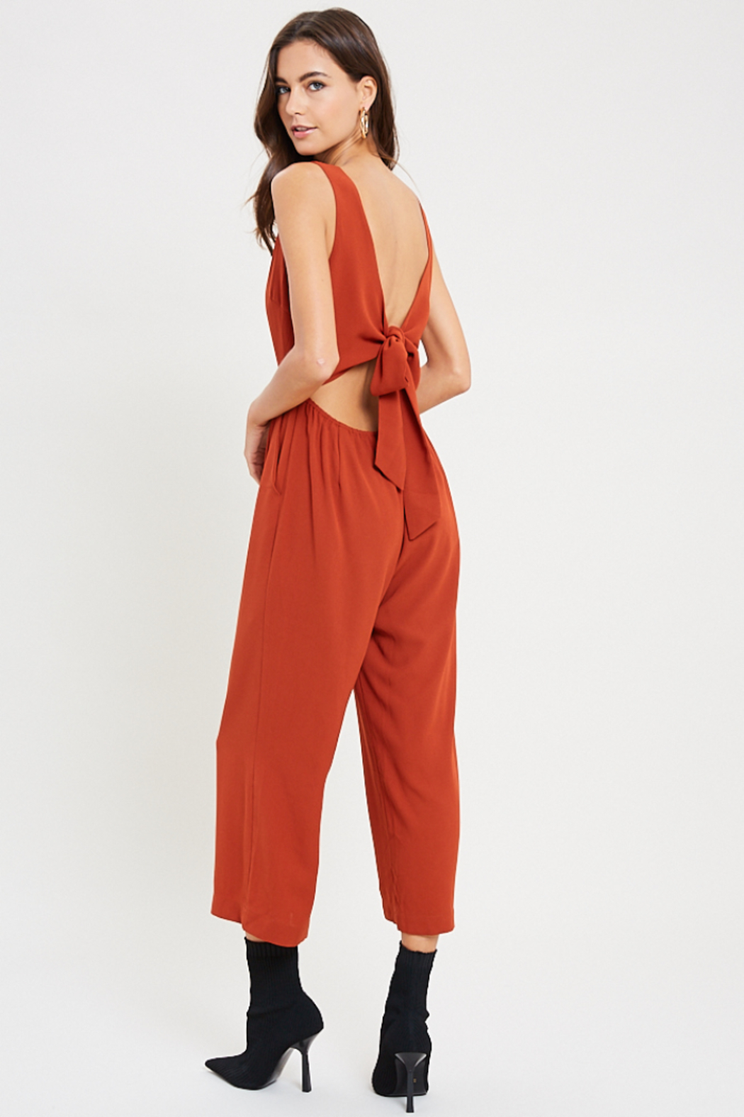 Wishlist Juniper Tie Back Jumpsuit - Front Full Image