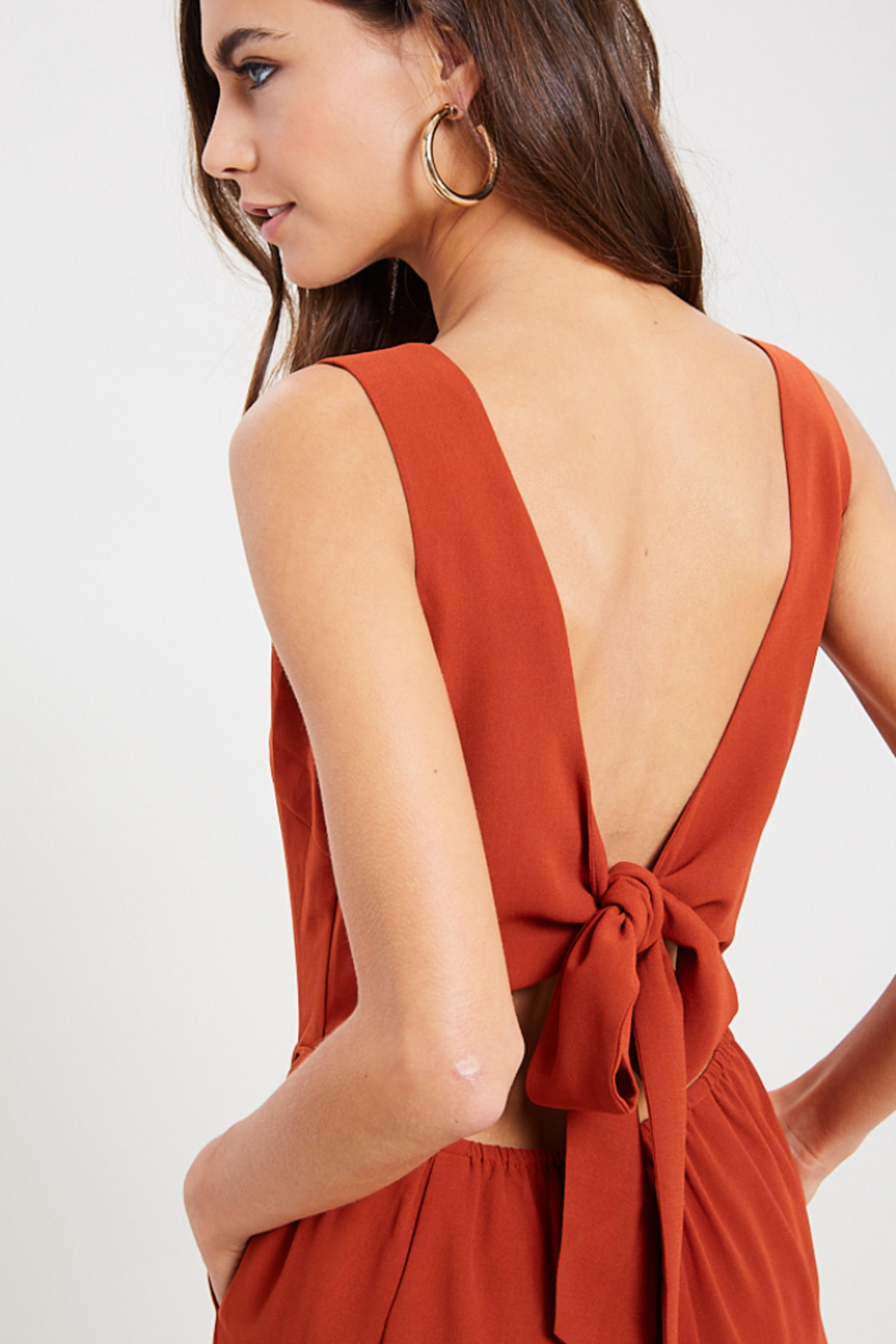 Wishlist Juniper Tie Back Jumpsuit - Back Cropped Image
