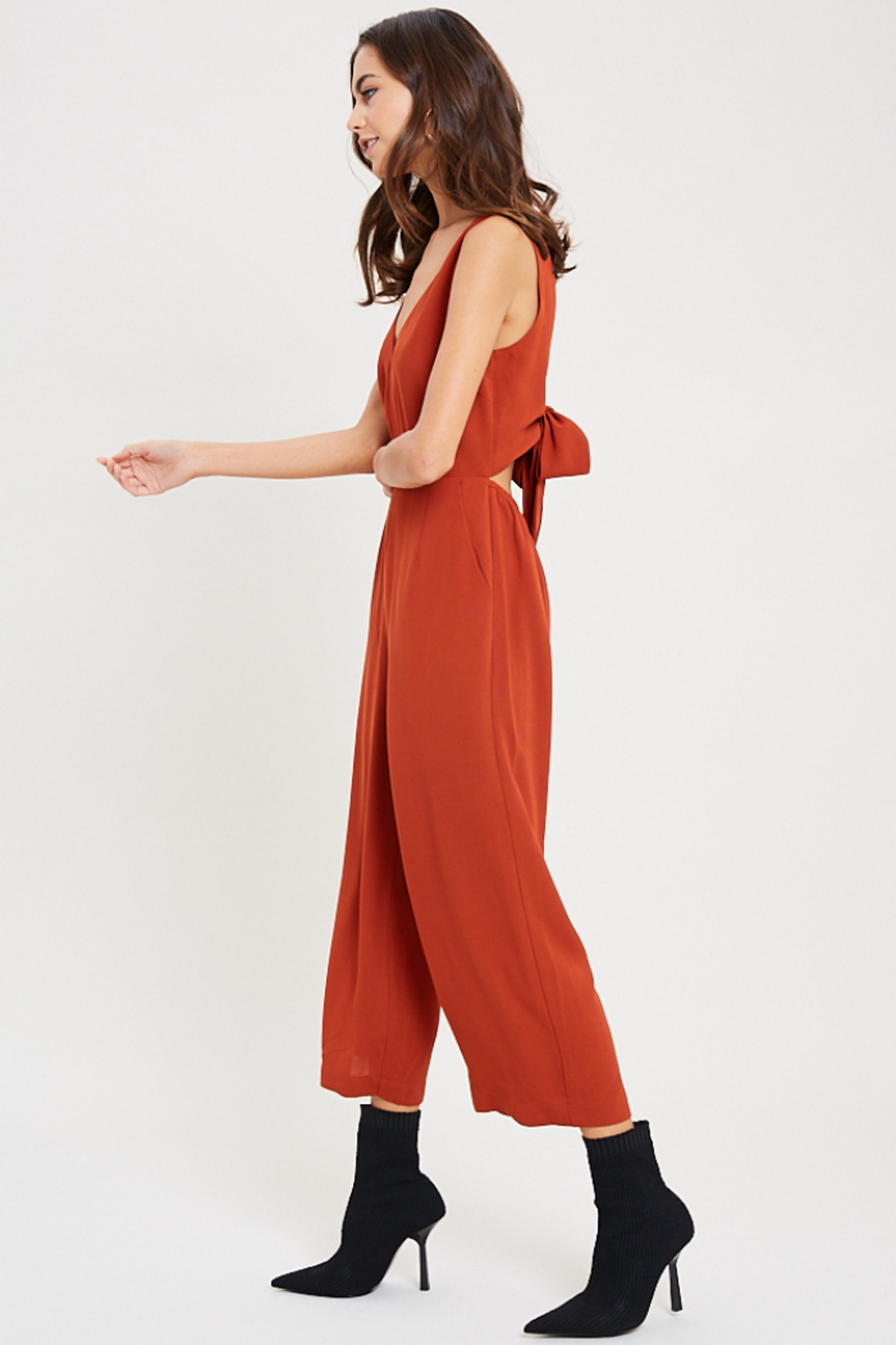 Wishlist Juniper Tie Back Jumpsuit - Side Cropped Image