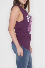 Junk Food Clothing Purple Sleeveless Graphic Top - Front full body