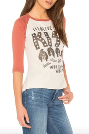 Junk Food Clothing Kiss Baseball Tee - Front full body
