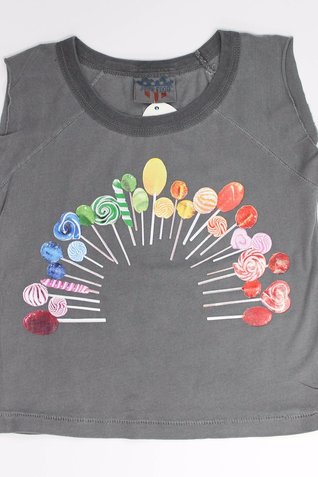 Junk Food Clothing Lollipop Rainbow - Front Cropped Image