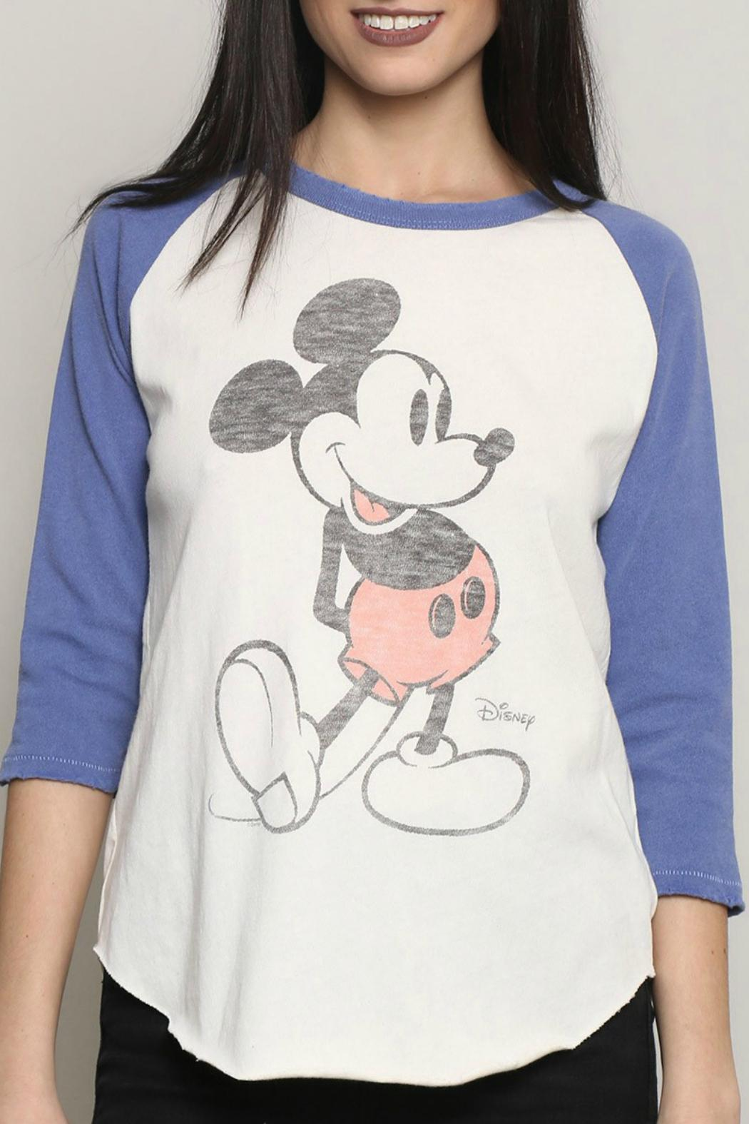 Junk Food Clothing Mickey Mouse Raglan Tee - Front Full Image