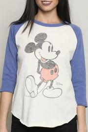 Junk Food Clothing Mickey Mouse Raglan Tee - Front full body