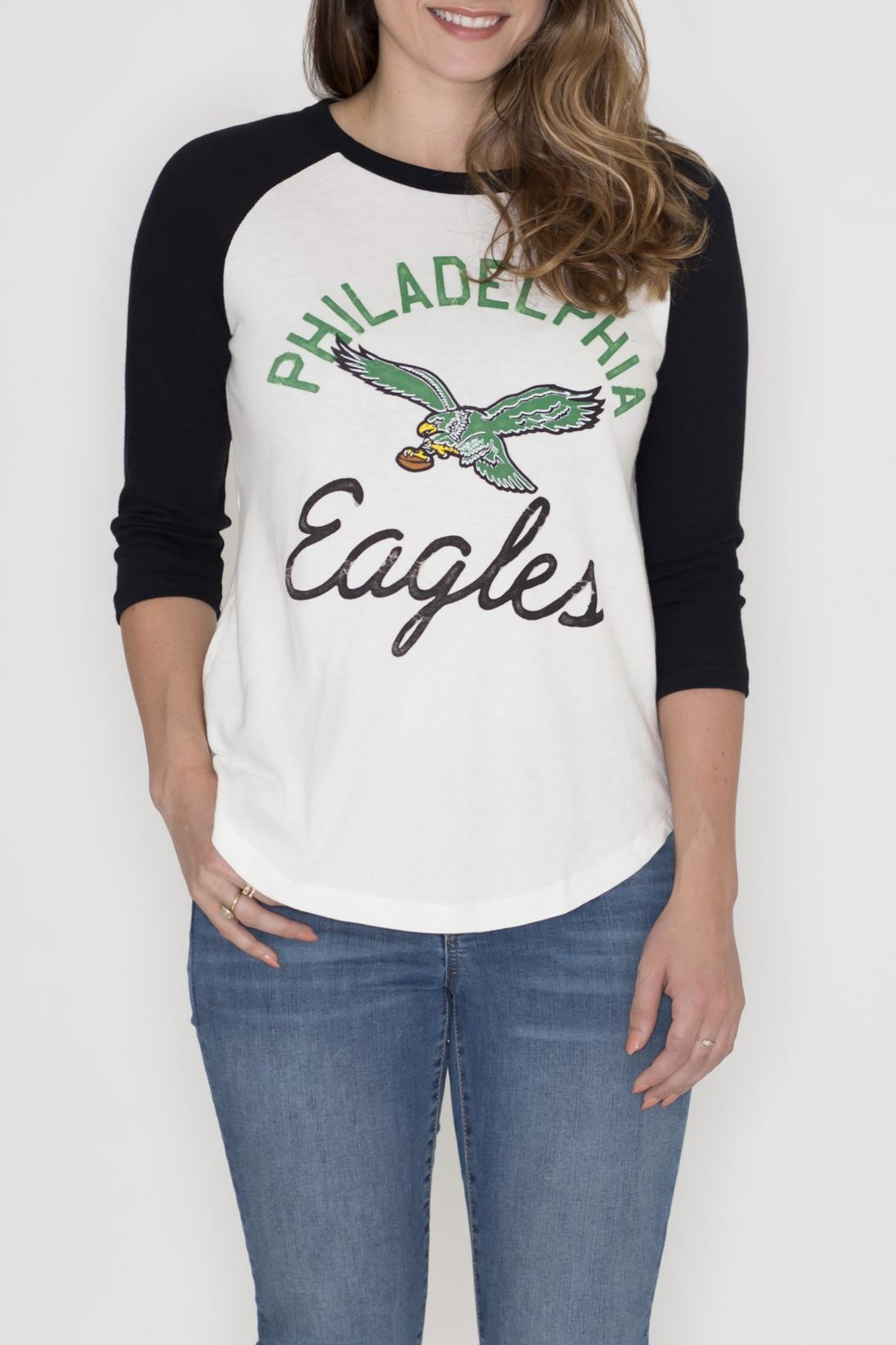 Junk Food Clothing Philadelphia Eagles Raglan Tee - Main Image