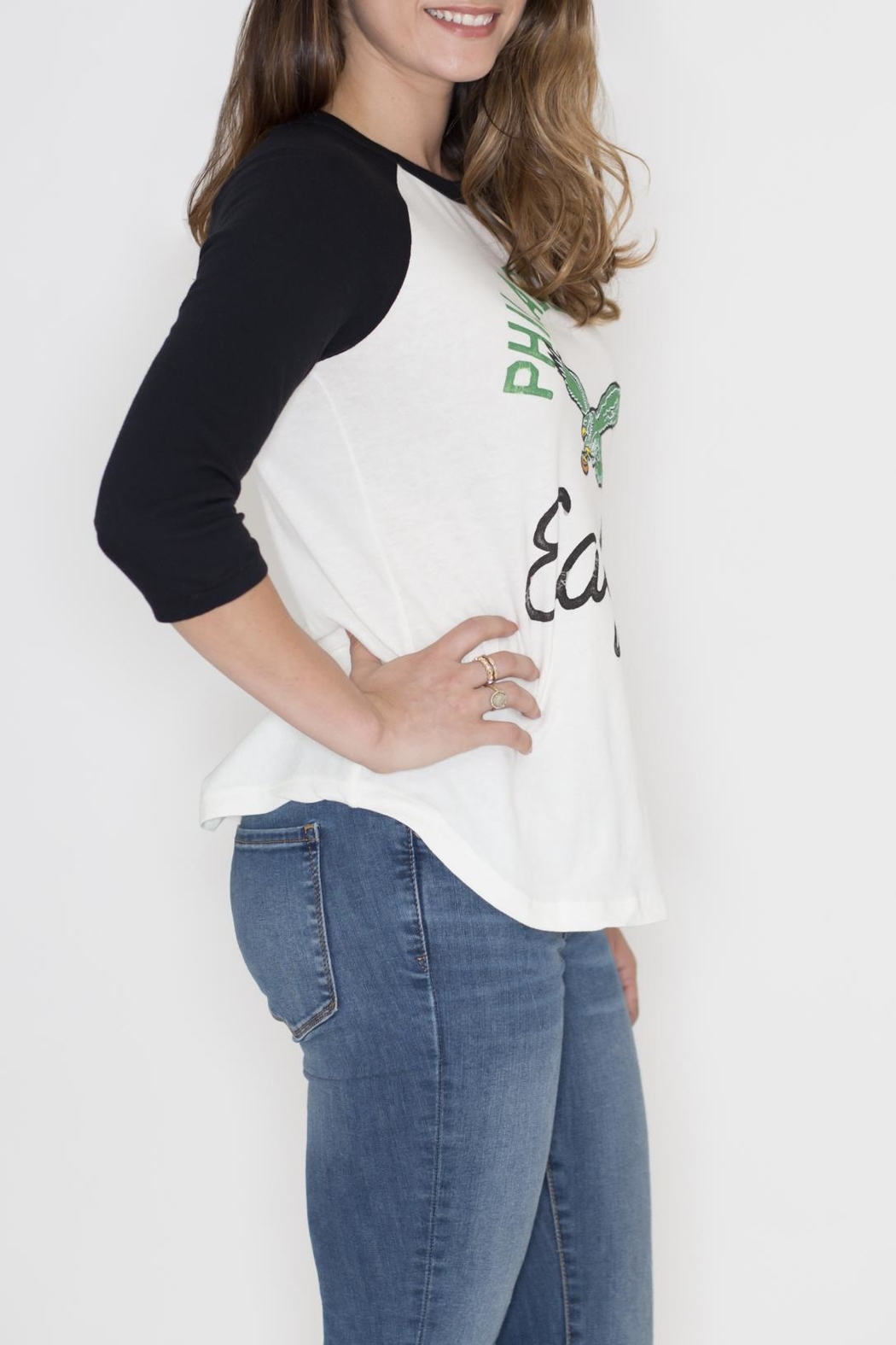 Junk Food Clothing Philadelphia Eagles Raglan Tee - Front Full Image