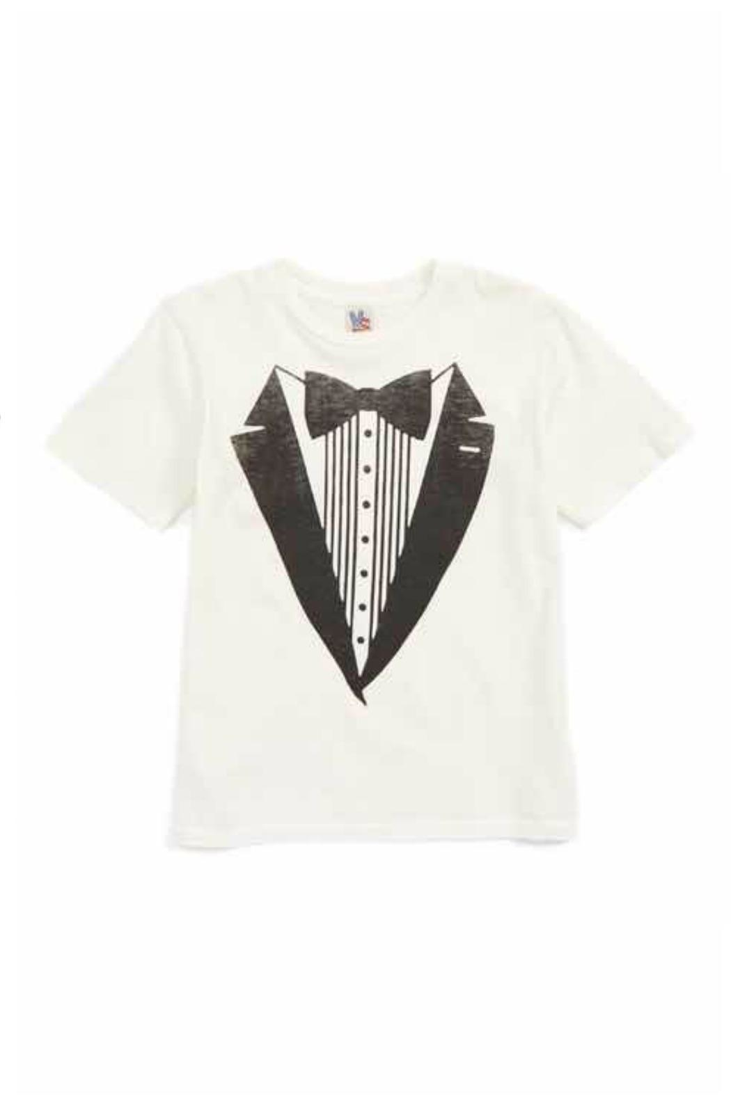 Junk Food Clothing Tuxedo Suit Tee - Front Cropped Image