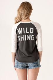 Junk Food Clothing Wild Thing Raglan - Back cropped