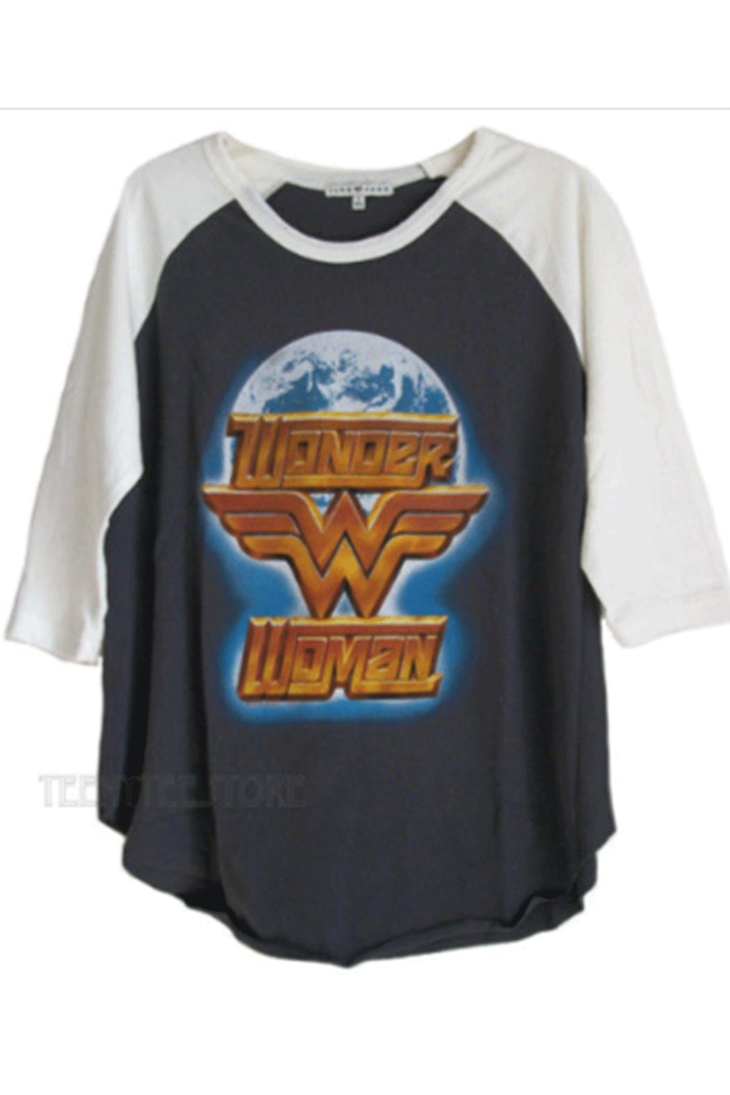 Junk Food Clothing Wonder-Woman Globe Raglan - Front Full Image