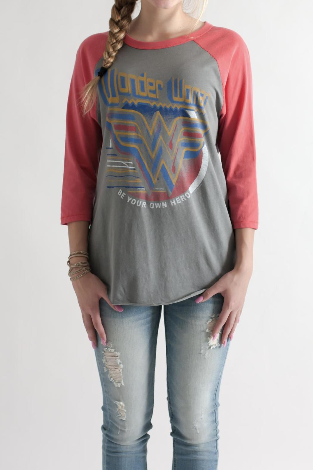 Junk Food Clothing Wonder Woman Raglan From Philadelphia By May 23  Shoptiques-4650