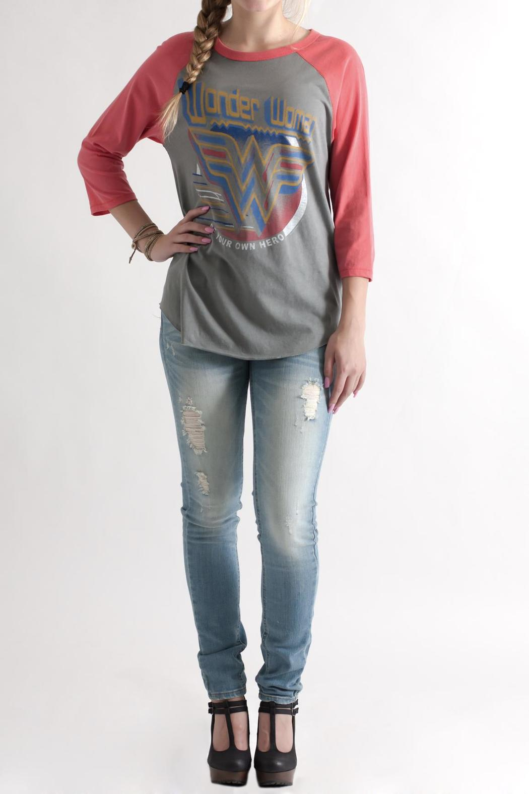 Junk Food Clothing Wonder Woman Raglan From Philadelphia By May 23  Shoptiques-1992