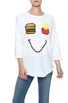 Junkfood Burger Fry Baseball Tee - Product List Image