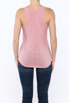 Shoptiques Product: Pink Graphic Tank Top