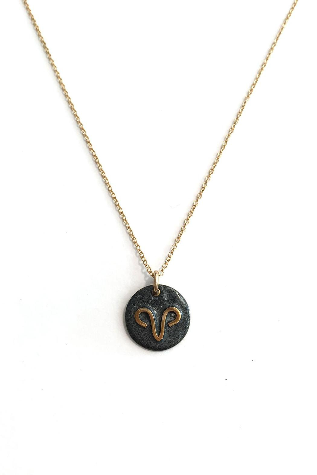 Jurate Brown Zodiac Necklace Aries From California By The