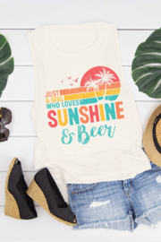 bella's closet Just A Girl Who Loves Sunshine & Beer - Product Mini Image