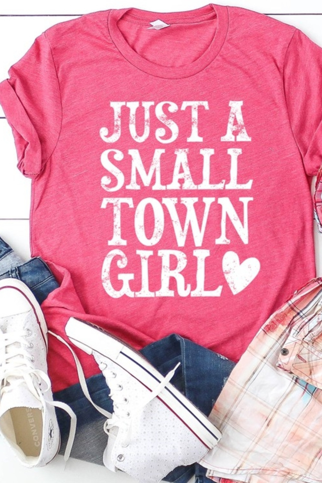 kissed Apparel Just a Small Town Girl graphic tee - Main Image