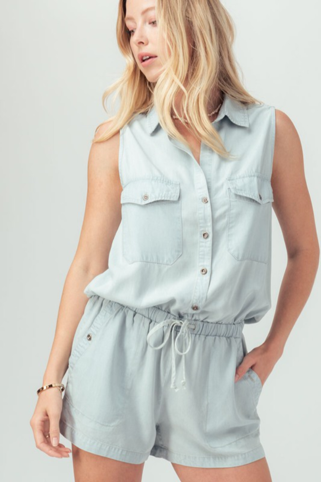 Trend Notes  Just A Summer Day Romper - Front Full Image