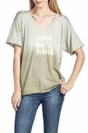 Knit Riot Just Be Kind Cut Up Ombre tee - Product Mini Image