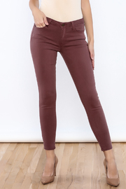 just black Ankle Skinny Jeans - Front cropped