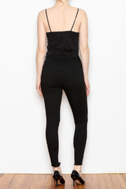 just black Button Fly Denim Jeans - Back cropped