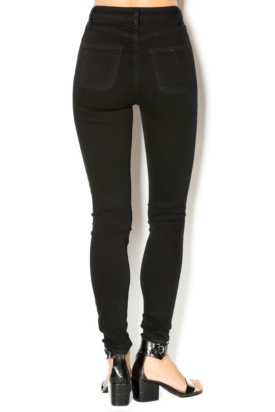 just black Black Skinny Jean - Back Cropped Image
