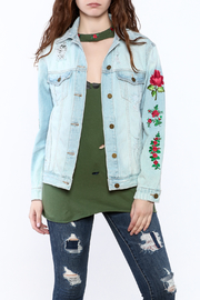 just black Boyfriend Denim Jacket - Product Mini Image
