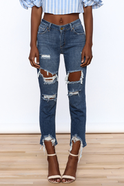 Just Black Denim Mid Rise Destroyed Jeans - Side cropped