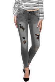 just black Destroyed Skinny Jeans - Product Mini Image