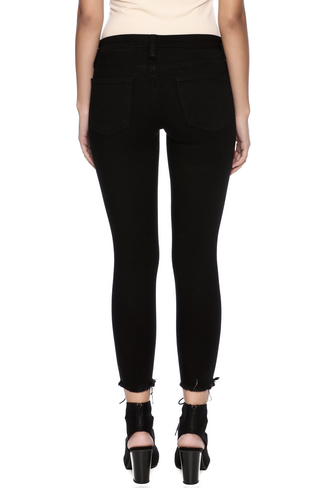 1652b53f855 just black Distressed Skinny Jean from California by Rose & Sage ...