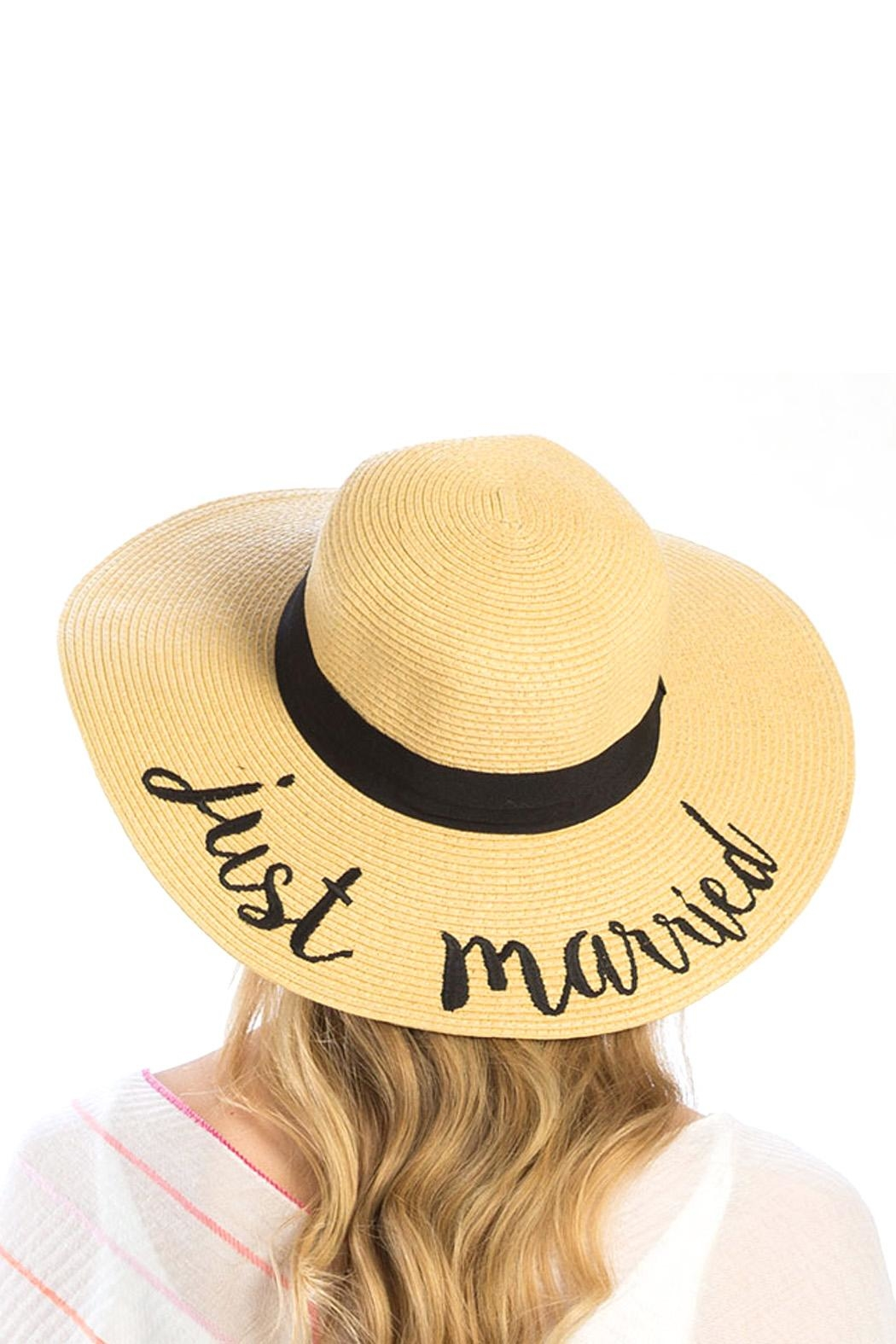 Wild Lilies Jewelry  Just Married Hat - Front Full Image