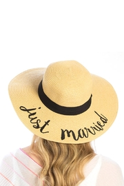 Wild Lilies Jewelry  Just Married Hat - Front full body