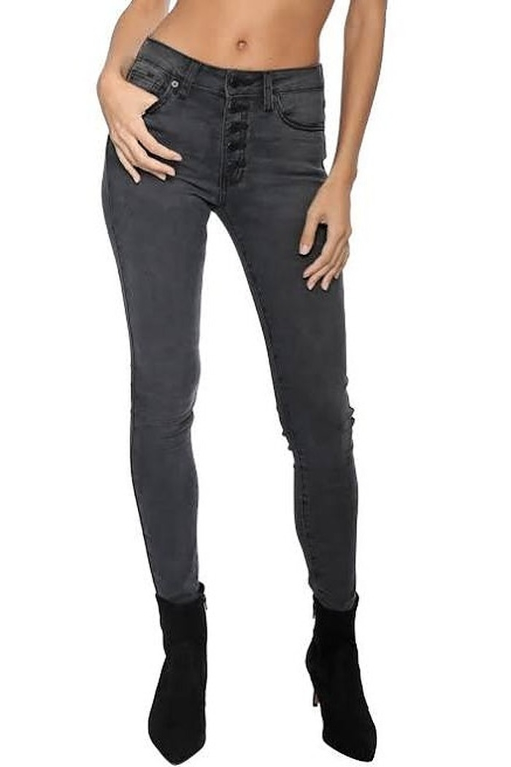 Just USA 5 button midrise skinny jeans - Main Image
