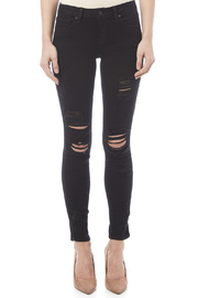 Just USA Destroyed Ripped Skinny Jean - Side cropped