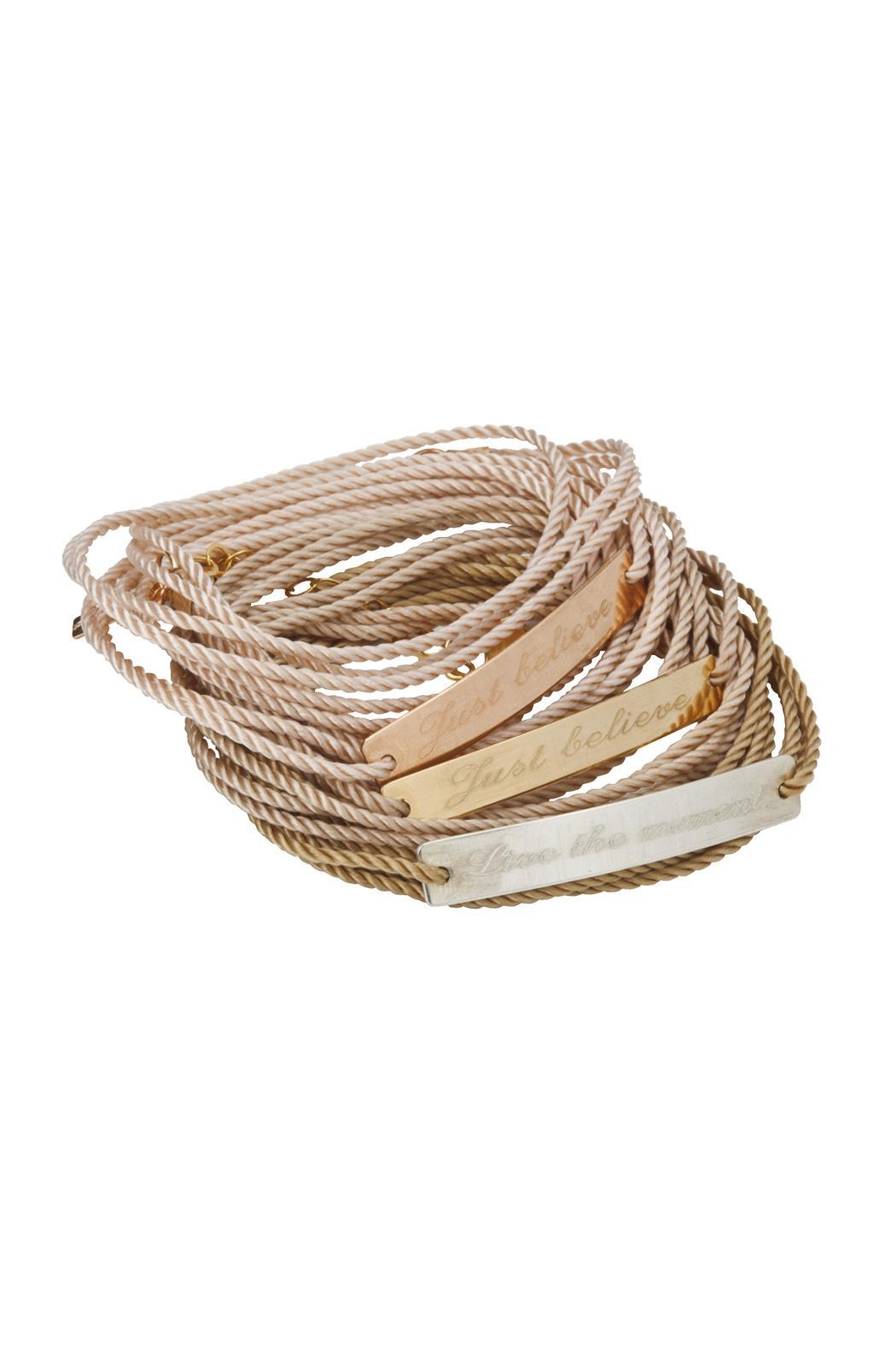 Just Believe Jewelry Cord Wrap Bracelet - Front Cropped Image