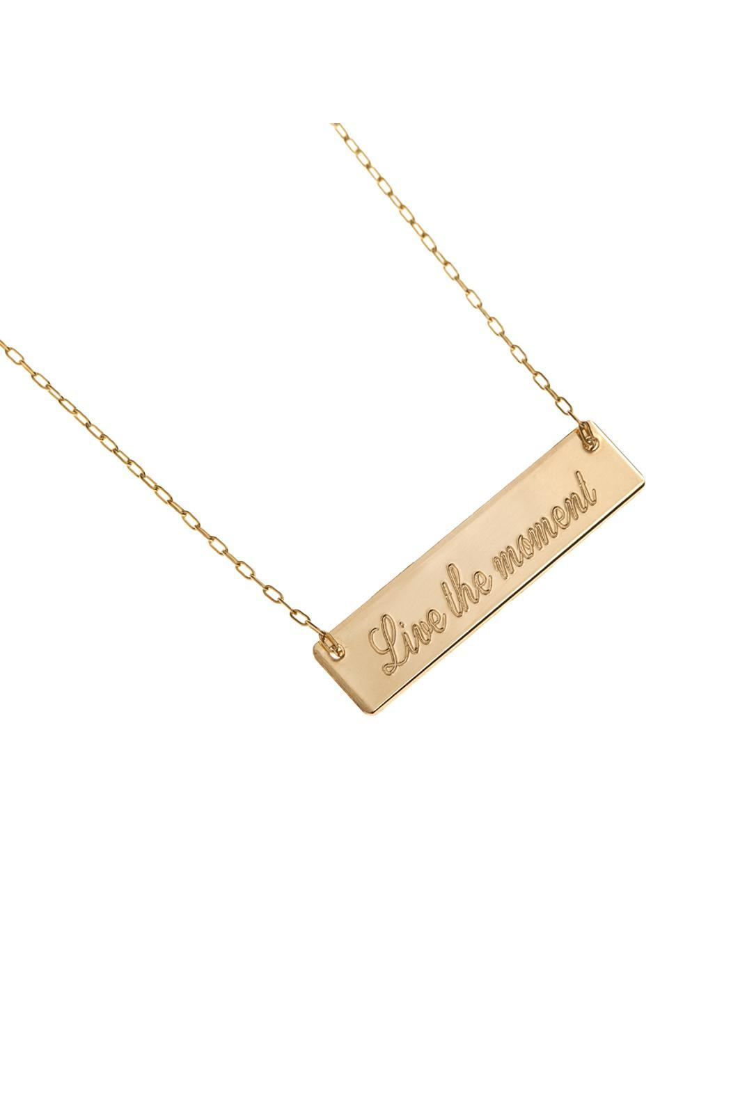 Just Believe Jewelry Plaque Necklace - Main Image