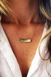 Just Believe Jewelry Plaque Necklace - Side cropped
