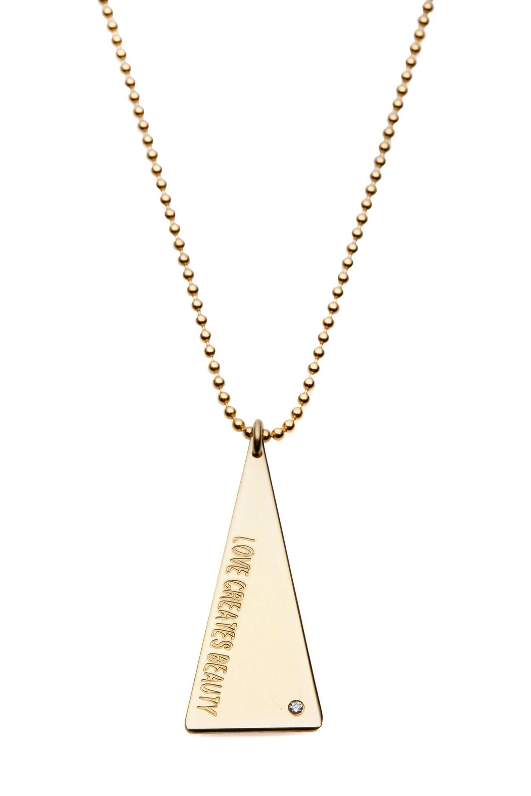 Just Believe Jewelry Triangle Disk Necklace - Main Image