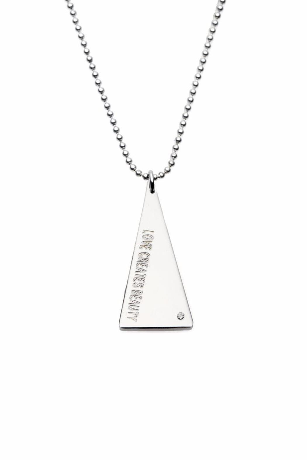 Just Believe Jewelry Triangle Disk Necklace - Front Cropped Image
