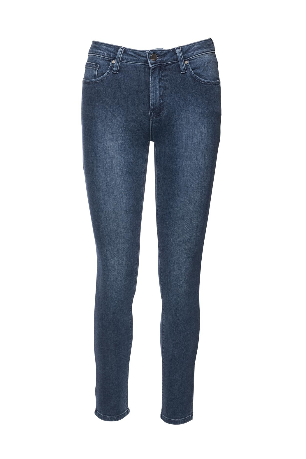 just black Ankle Skinny Denim Jeans - Front Cropped Image