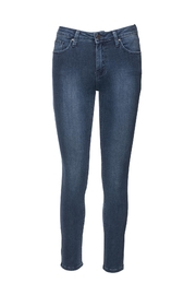 just black Ankle Skinny Denim Jeans - Front cropped