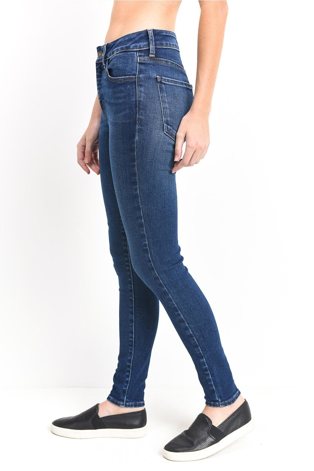 just black Ankle Skinny Jeans - Front Full Image