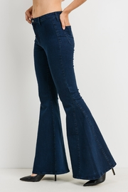 just black Bell Bottom Jeans - Side cropped