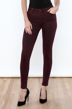 Shoptiques Product: Burgundy Skinny Jeans