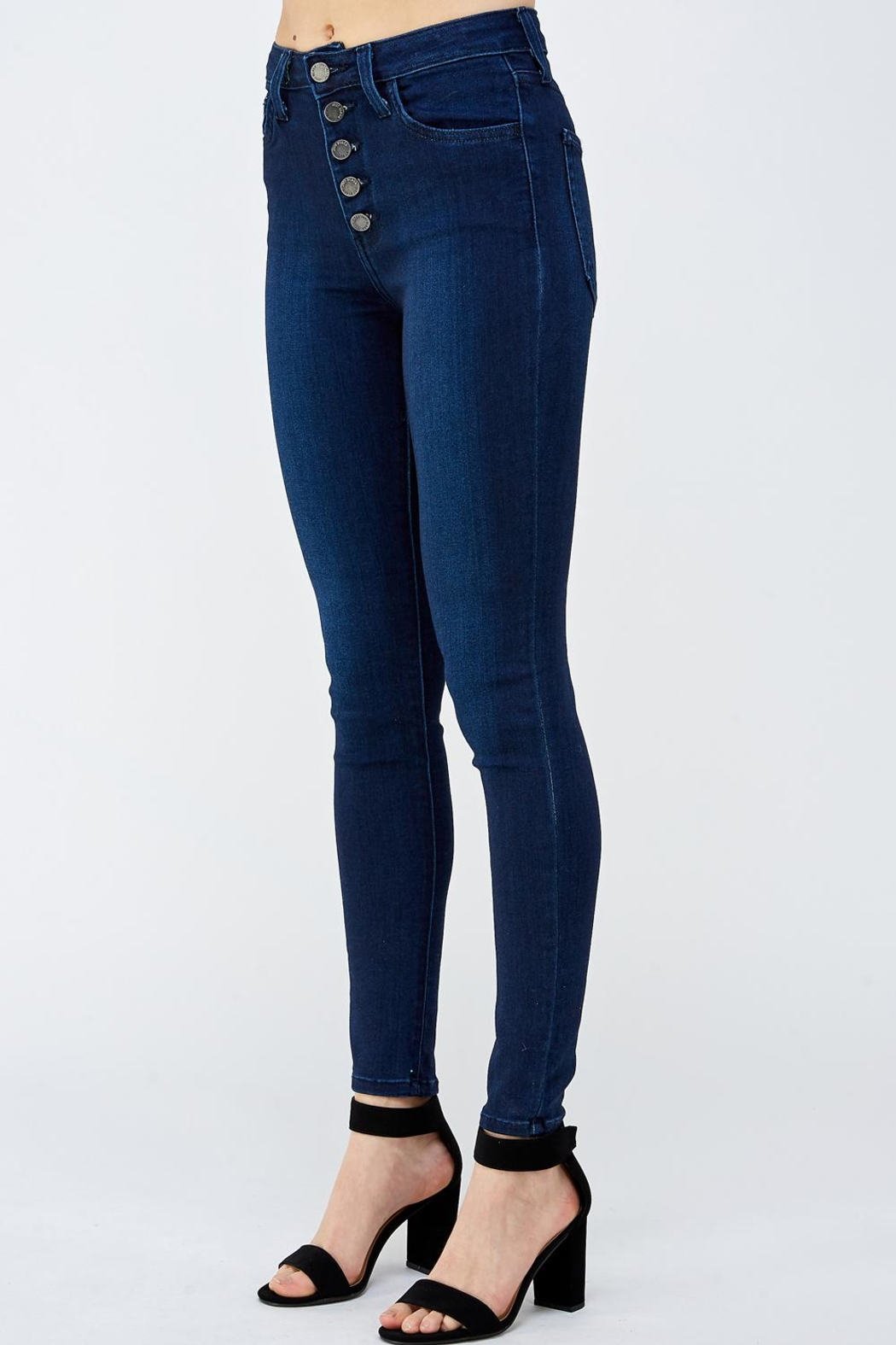 just black Button Fly Denim - Side Cropped Image