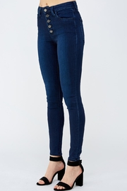 just black Button Fly Denim - Side cropped