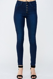 just black Button Fly Denim - Front cropped